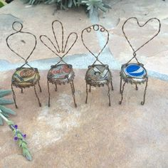 Mini Bottle Cap Chairs - Click Image to Close