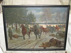 #ad Orig HUGE WWI Trench Art Painting GERMANS ADVANCING on RUSSIAN FRONT 1917 Signed http://rover.ebay.com/rover/1/711-53200-19255-0/1?ff3=2&toolid=10039&campid=5337950191&item=142744111505&vectorid=229466&lgeo=1