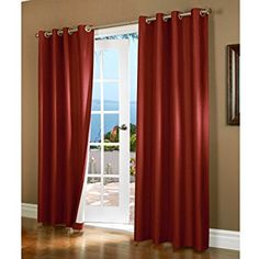 Thermalogic Horizon Grommet Top Insulated Curtain Panel (Horizon green), Size 54 x 84 (Polyester Blend, Solid) Bathroom Window Treatments, Valance Window Treatments, Window Treatment Store, Bedroom Drapes, Room Darkening Curtains, Drapes Curtains, Silver Curtains, Blackout Curtains, Insulated Curtains