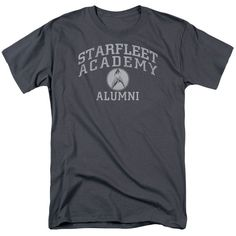Behold the Star Trek: Original Series - Alumni Adult T-Shirt. Now you can be part of the hype with this charcoal colored, officially licensed t-shirt made of 100% pre-shrunk cotton. This t-shirt is pe