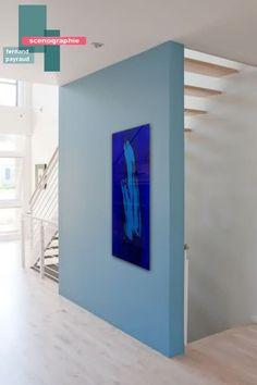 scénographie oeuvre d'art | B_indoor | www.b-indoor.com/ #decoration #design #agencement #contemporain #art #mobilierdesign #amenagement #plans #scénographies #stairs #escaliers #staircase
