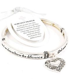 Accessory Accomplice Silvertone Serenity Prayer Heart Charm Stretch Bracelet Accessory Accomplice http://www.amazon.com/dp/B00B2VMO6Y/ref=cm_sw_r_pi_dp_cw79tb0XBG255