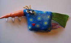 Paint your own Soft Sculpture! I make it, you paint it! Fish, Birds, Monsters, Happy Houses, etc...