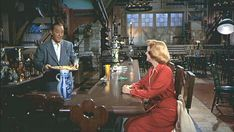 """""""White Christmas"""" movie house -  Bing Crosby Rosemary Clooney having a late night snack.  Clooney had grown up listening to him singing on the radio and signed with Paramount because they promised her she'd get to work with him. After this movie, they became close friends.  Pinned from Hooked on Houses by Julia, 12-25-2015."""