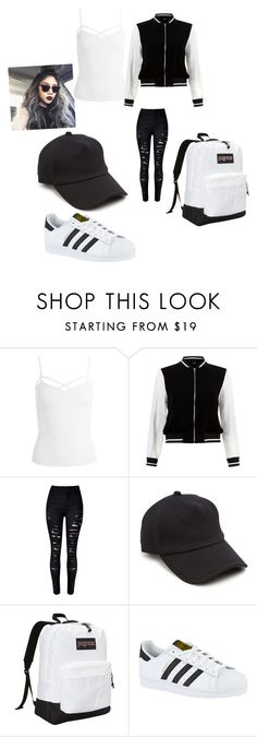 """Untitled #133"" by jazel117 on Polyvore featuring Sans Souci, New Look, rag & bone, JanSport and adidas"
