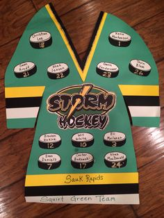Hockey team tournament decoration.