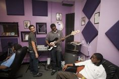 Two years ago, the Phoenix Houses of Texas Austin Academy was the recipient of a state-of-the-art recording studio generously donated by Kara DioGaurdi. In 2012, we hired Music Director, Matt Smith, who has led adolescent clients at the Austin Academy to produce over 25 songs in the recording studio this year.