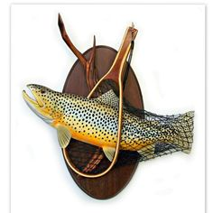 Brown trout art sculpture wood carving wall art by WOODNARTS Fish Wall Art, Fish Art, Fish Sculpture, Wood Sculpture, Fish Wood Carving, Wood Carvings, Fishing Gifts, Fly Fishing, Trout Fishing