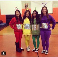 Teletubbies Kostüm selber machen | Kostüm Idee zu Karneval Halloween u0026 Fasching  sc 1 st  Pinterest & Homemade teletubbies Halloween costume... and these are my FRIENDS ...