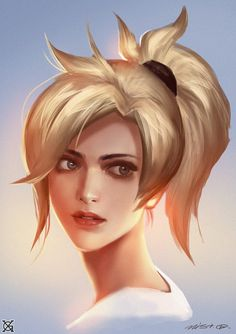 Mercy - Overwatch fan art by  mist XGMore from this series of... #LoveArt - #Art #LoveArt http://wp.me/p6qjkV-fmH