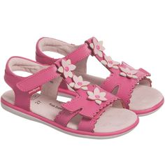 Pediped Girls Pink Leather Sandals at Childrensalon.com