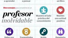 10 consejos para ser un profesor inolvidable #infografia #infographic #education