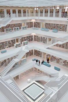 The Stuttgart City Library in Stuttgart, Germany I'd be in heaven