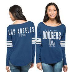Los Angeles Dodgers '47 Brand Women's Dugout Long Sleeve T-Shirt - Royal