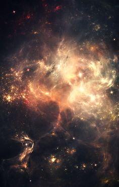 """Enlightenment"" space art, nebula, cosmos, universe, wonder, astronomy"