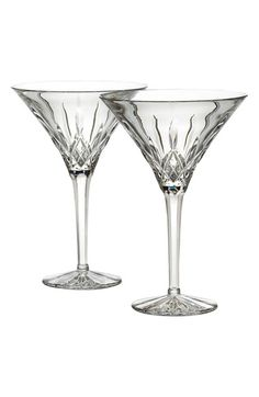 Waterford 'Lismore' Lead Crystal Martini Glasses (Set of 2)