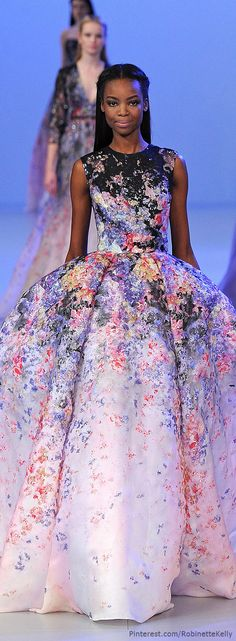 Elie Saab Haute Couture | S/S 2014   Would you look at that fabric? Outstanding!