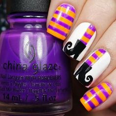 Brujita Nail Designs For Halloween, Nails For Halloween, Toe Nail Designs For Fall, Holloween Nails, Nail Art Designs, Halloween Art, Halloween Countdown, Fingernail Designs, Short Nail Designs
