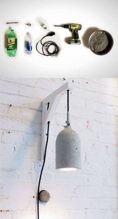 Lámpara DIY de hormigón