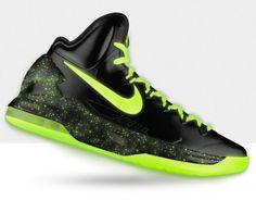 35bb9f0fecf3 Kevin durant shoes 2013 KD V Black Fluorescent Green Lebron 15 Shoes