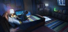 Night Room by RhysGriffiths.deviantart.com on @DeviantArt