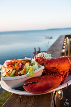 Enjoy a delectable lobster dinner at Le Caraquette in Caraquet... seaside, of course!