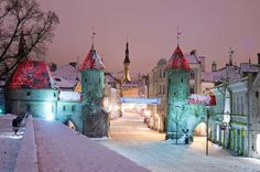 【雪  snow】         世界遺産の街並がファンタスティック!歩くだけで幸せになれそうな冬景色雪景色の中のヴィル門は、本当におとぎの国の入り口のようです。
