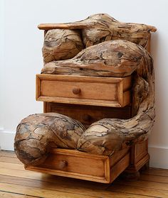 Chest of Drawers, 2013. Plywood and furniture, 0.75 x 0.53 x 0.56m. Henrique Olivera