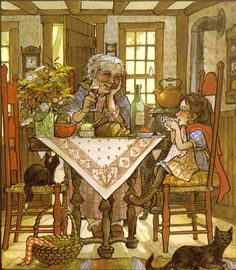illustrations trina schart hyman | ... Print, Trina Schart Hyman Illustration, Time With Grandmother