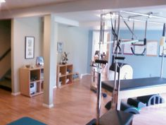 At home Pilates studio in the basement...in addition to PT practice, sounds good to me :)