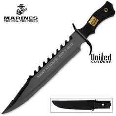 United Cutlery Marine Force Recon Night Stalker Bowie Knife.