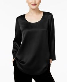 Eileen Fisher Silk Tunic - Black XXS