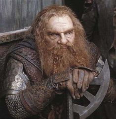 Gimli, Son of Gloin.  Lord of the Rings.