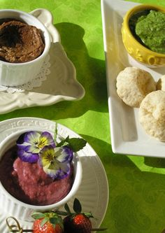 Hummus Trifecta:  Strawberry, Chocolate and Spinach Artichoke
