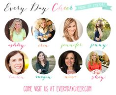Every Day Cheer!  - the new lifestyle blog that has everything you need from recipes to DIY to printables to gift guides...everything!  And I'm a contributor!!