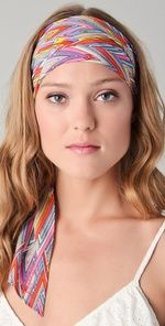 Colorful silk headband/scarf.  So chic for summer.