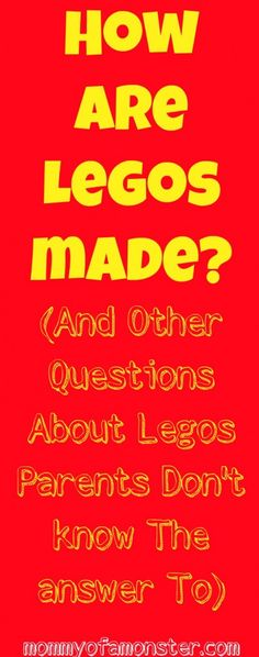 If your Lego lovin' kid asks how Legos are made, where they come from, what Lego means, or anything else about Legos, here are the answsers! #Lego #Legos