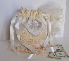 Dollar Dance Wedding Money Dance Bag Reception Tradition Wedding Card Bridal…