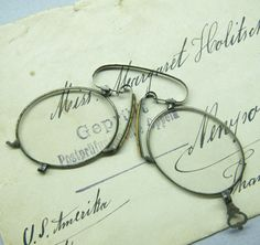 Antique Spectacles Eye Glasses Pince Nez