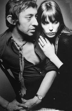 Musician-Composer Serge Gainsbourg and wife Jayne Birkin
