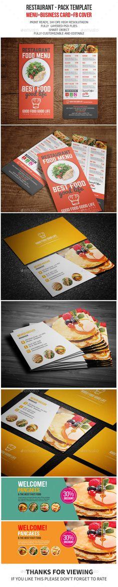 #Restaurant Pack Template - #Food #Menus Print Templates Download here: https://graphicriver.net/item/-restaurant-pack-template/13983669?ref=alena994