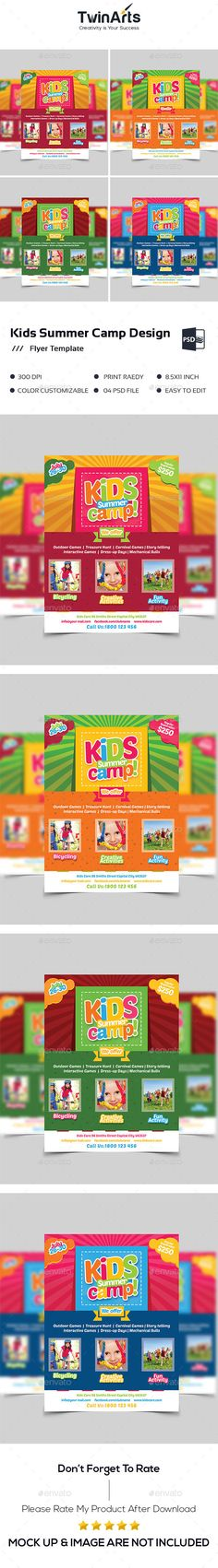 Kids Summer Camp Flyer  Camping Summer And Flyer Printing