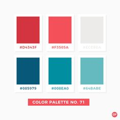 Color Palette No. 71 Color Palette No. Flat Color Palette, Color Palate, Pantone Colour Palettes, Pantone Color, Paint Color Palettes, Colour Schemes, Color Patterns, Colores Hex, Paleta Pantone