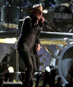 Jason Aldean performs during the 54th annual Grammy Awards on Sunday, Feb. 12, 2012 in Los Angeles. (AP Photo/Matt Sayles)