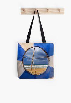'A Greek beach, no doubt!' Tote Bag by Hercules Milas Most Beautiful Beaches, Hard Wear, Beach Look, Hercules, Iphone Wallet, Summer Looks, Chiffon Tops, Flags, Sock