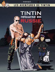 Tintin retourne en Russie Haddock Tintin, Comic Book Characters, Comic Books, Troll Face, Lucky Luke, Cartoon Crossovers, Book Cover Art, Reading Material, Comic Art