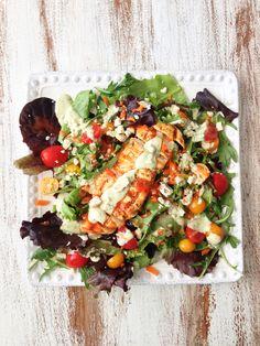 Skinny Grilled Buffalo Chicken Salad & Avocado Ranch — The Skinny Fork