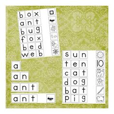 Learn to read game homeschool-workboxes