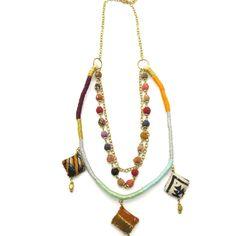 Kantha Collection - Diamond Trio Necklace