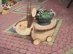 Znalezione obrazy dla zapytania ozdoby z drewna do ogrodu